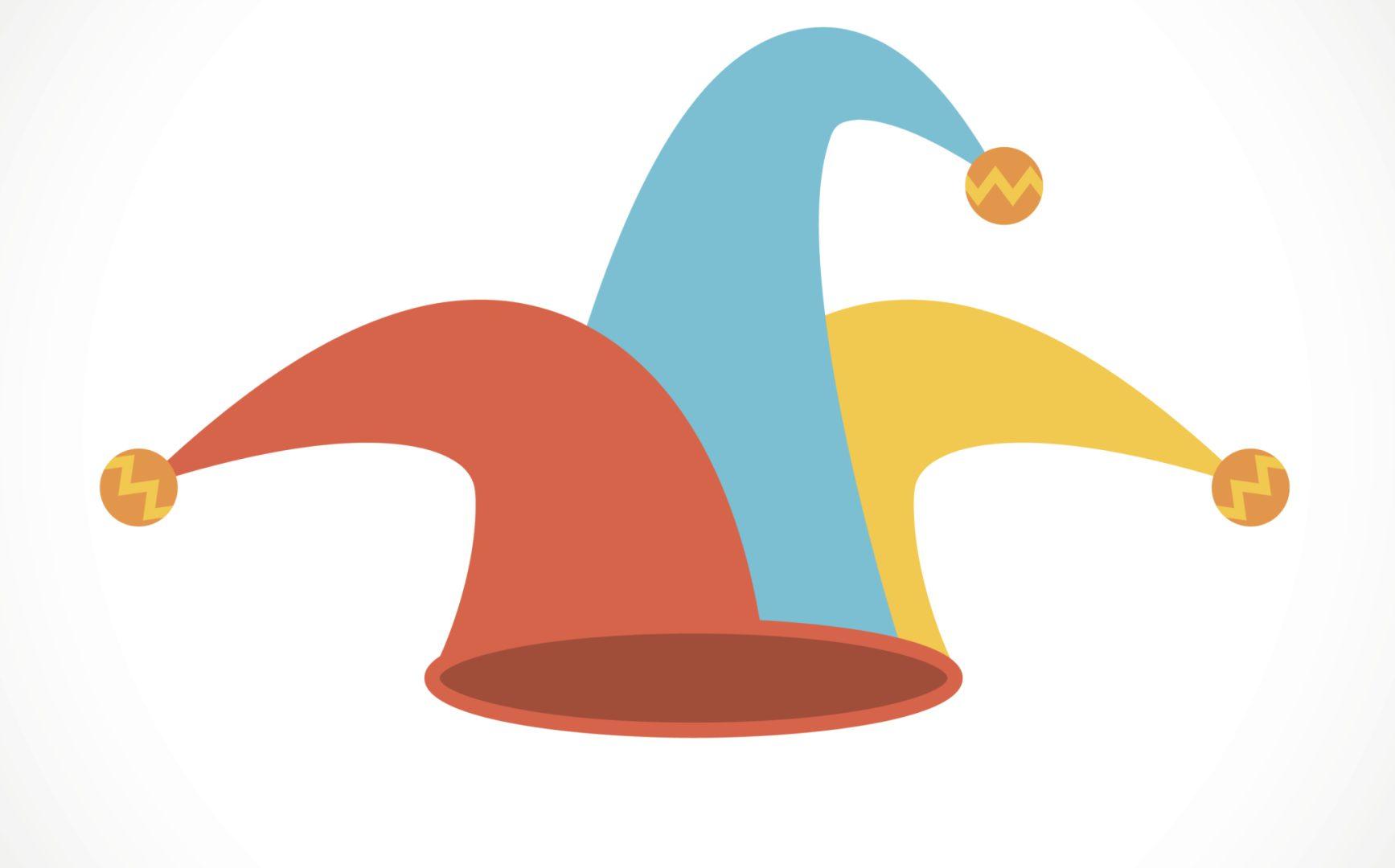 Jester hat flat icon