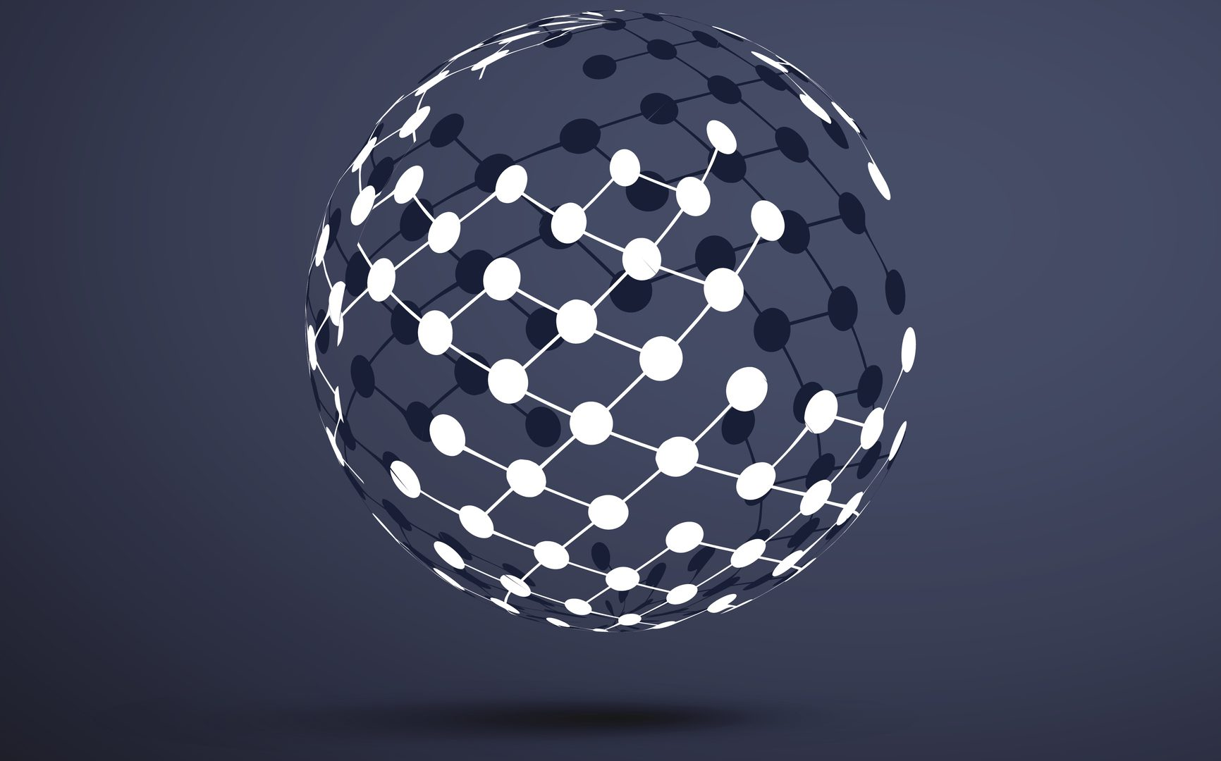 Abstract Transparent Globe Design -Global Networks or Technology Illustration Template in Editable Vector Format