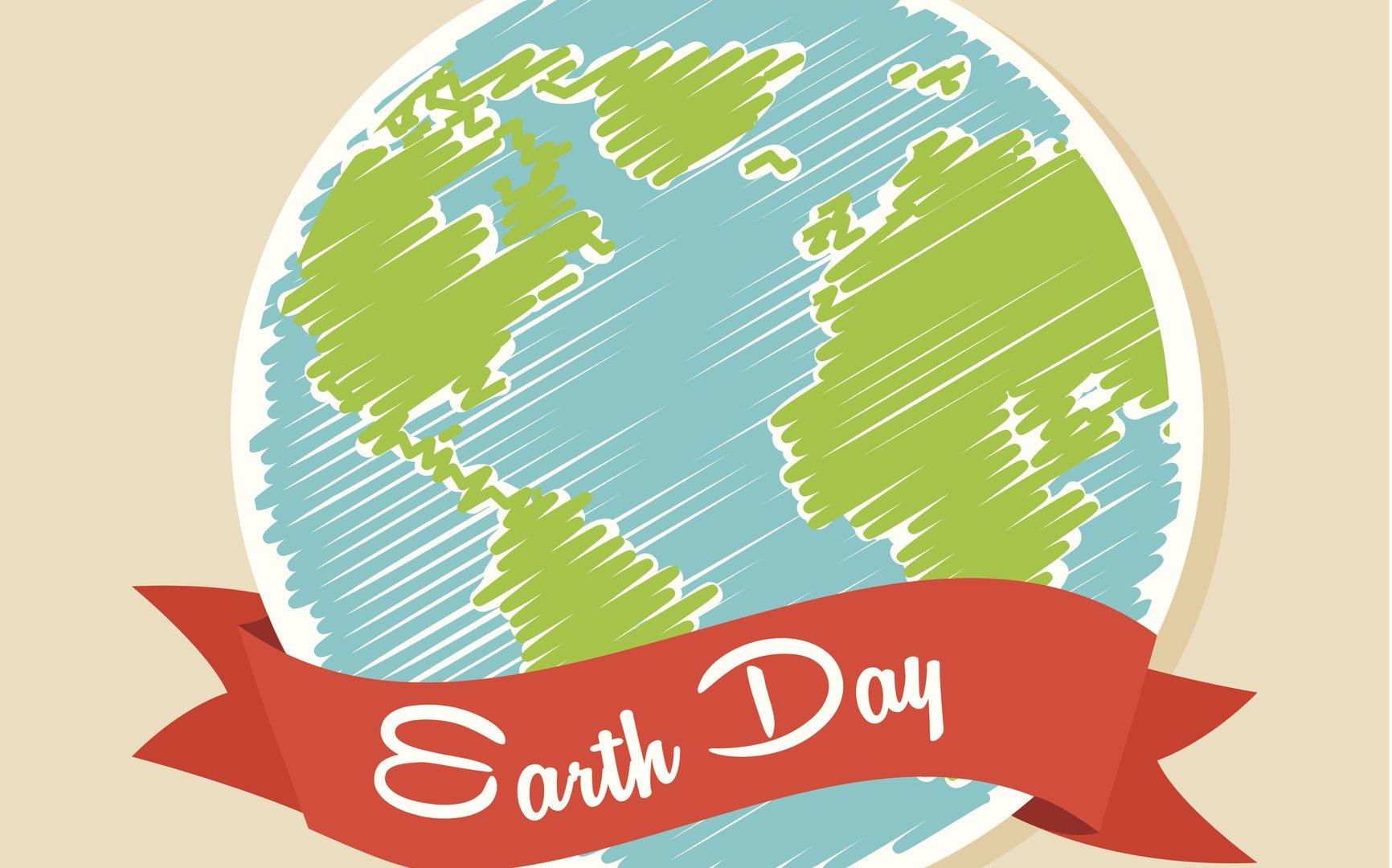 earth design over pink background vector illustration